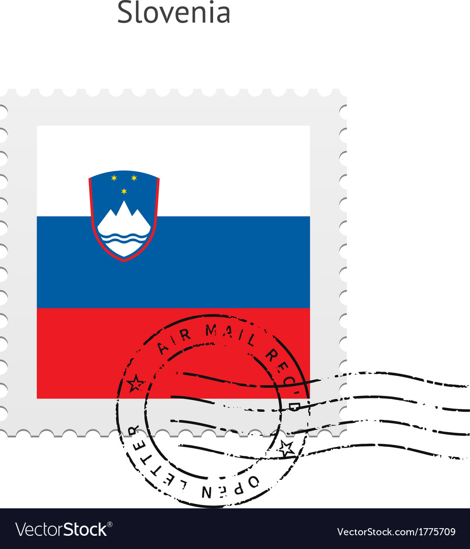Slovenia flag postage stamp vector | Price: 1 Credit (USD $1)
