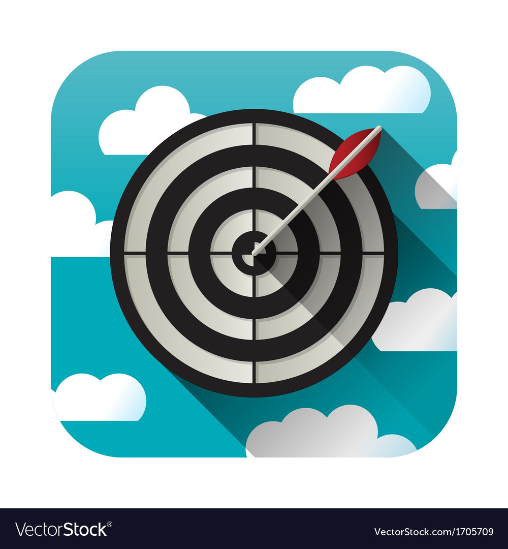 Target practice icon vector | Price: 1 Credit (USD $1)