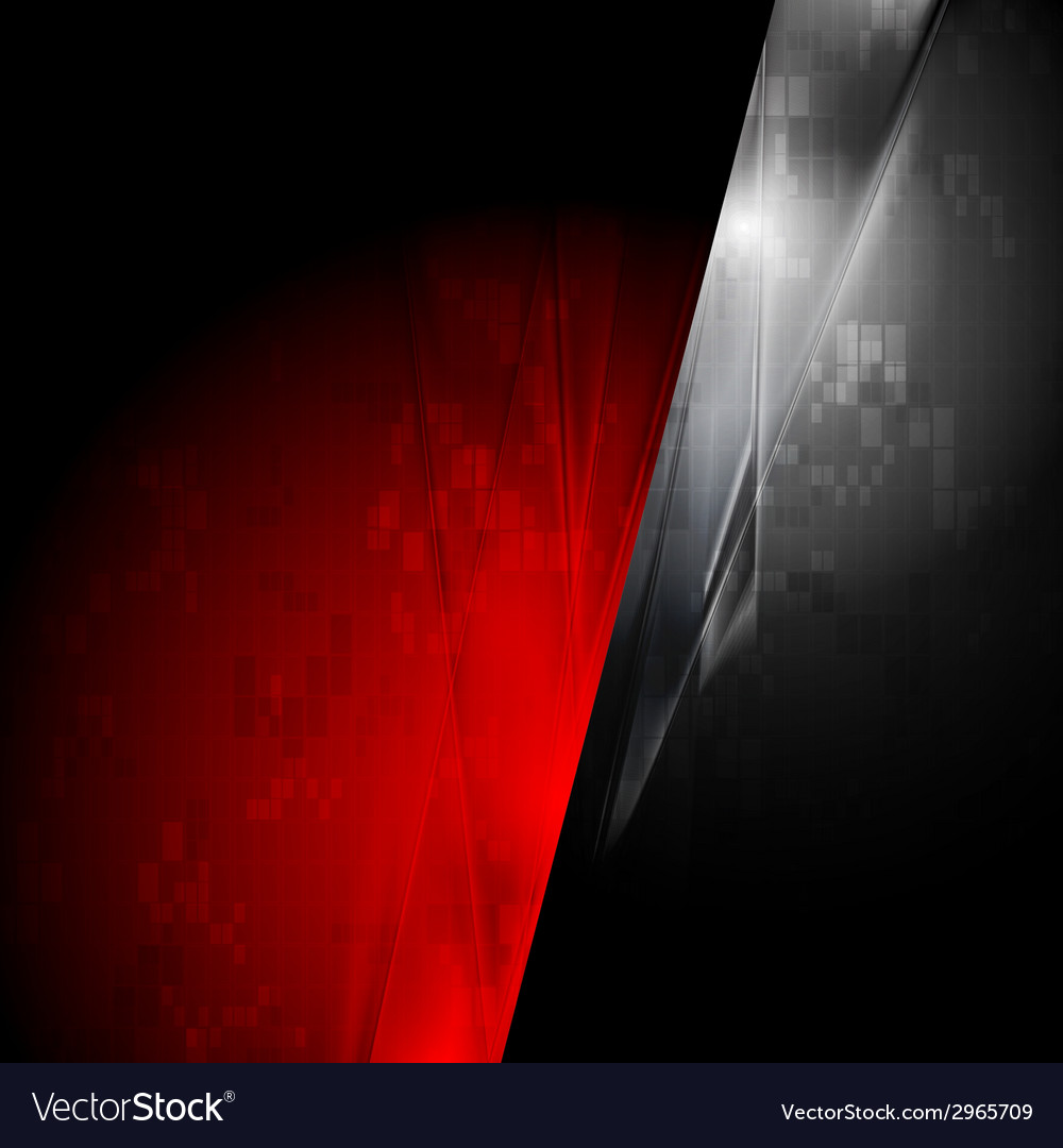 Tech red and black contrast background vector | Price: 1 Credit (USD $1)