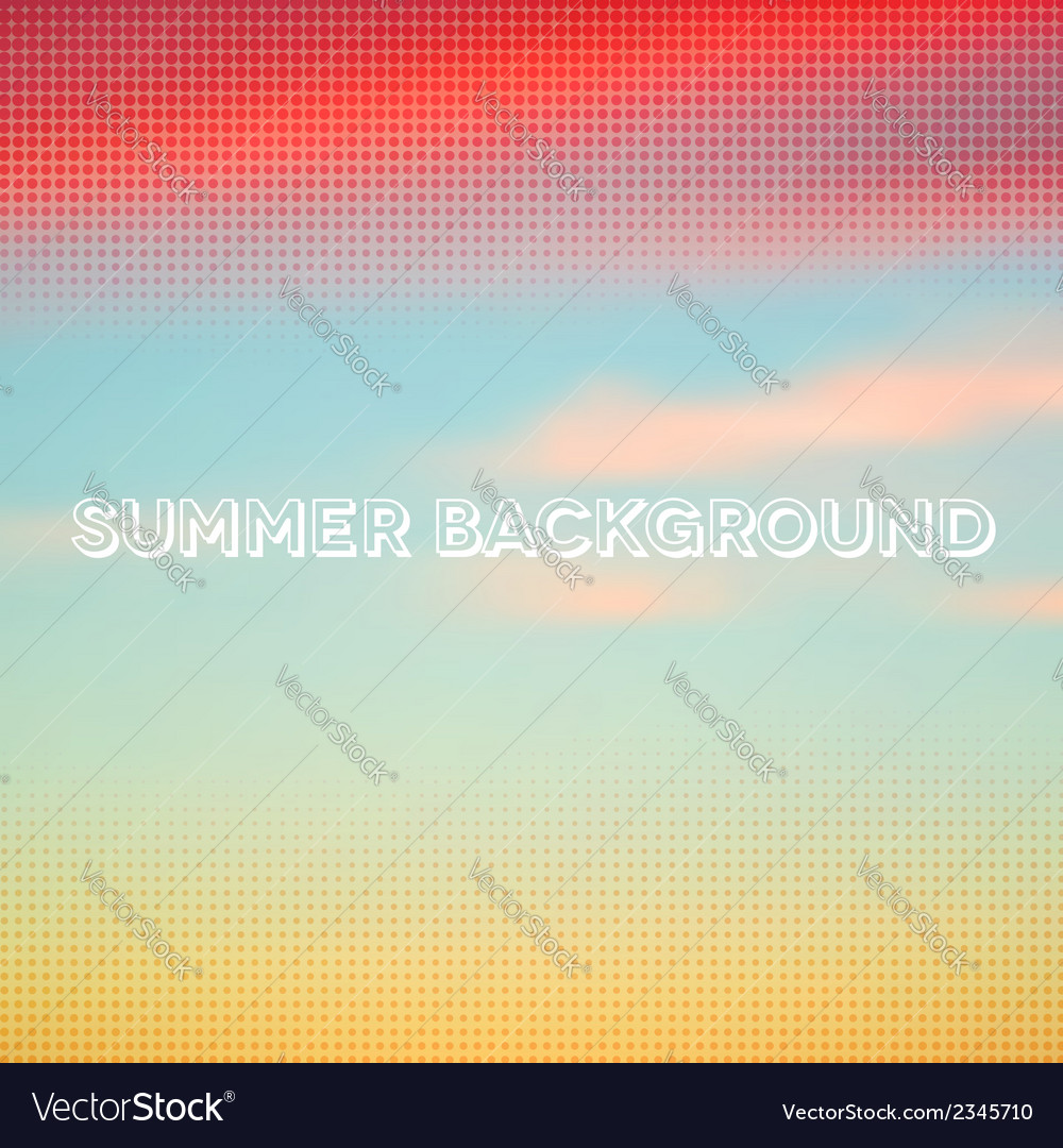 Abstract summer background with halftone overlay vector | Price: 1 Credit (USD $1)