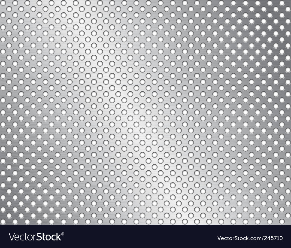 Brushed metal surface with holes vector | Price: 1 Credit (USD $1)
