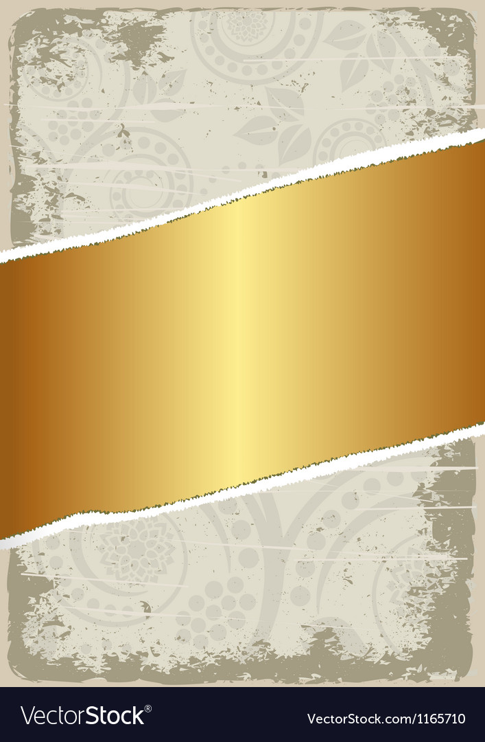 Dirty and gold background vector | Price: 1 Credit (USD $1)