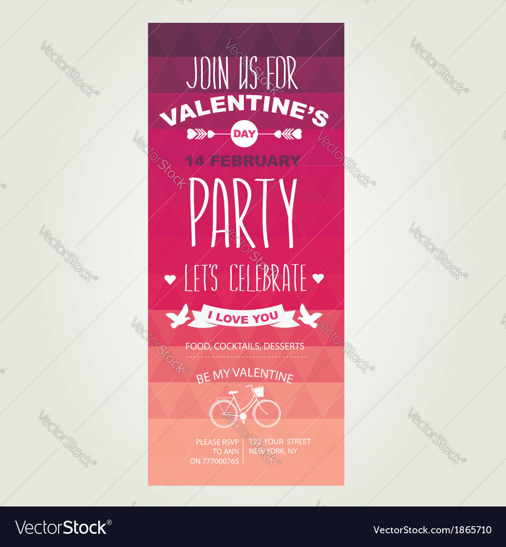 Invitation valentines day vector | Price: 1 Credit (USD $1)
