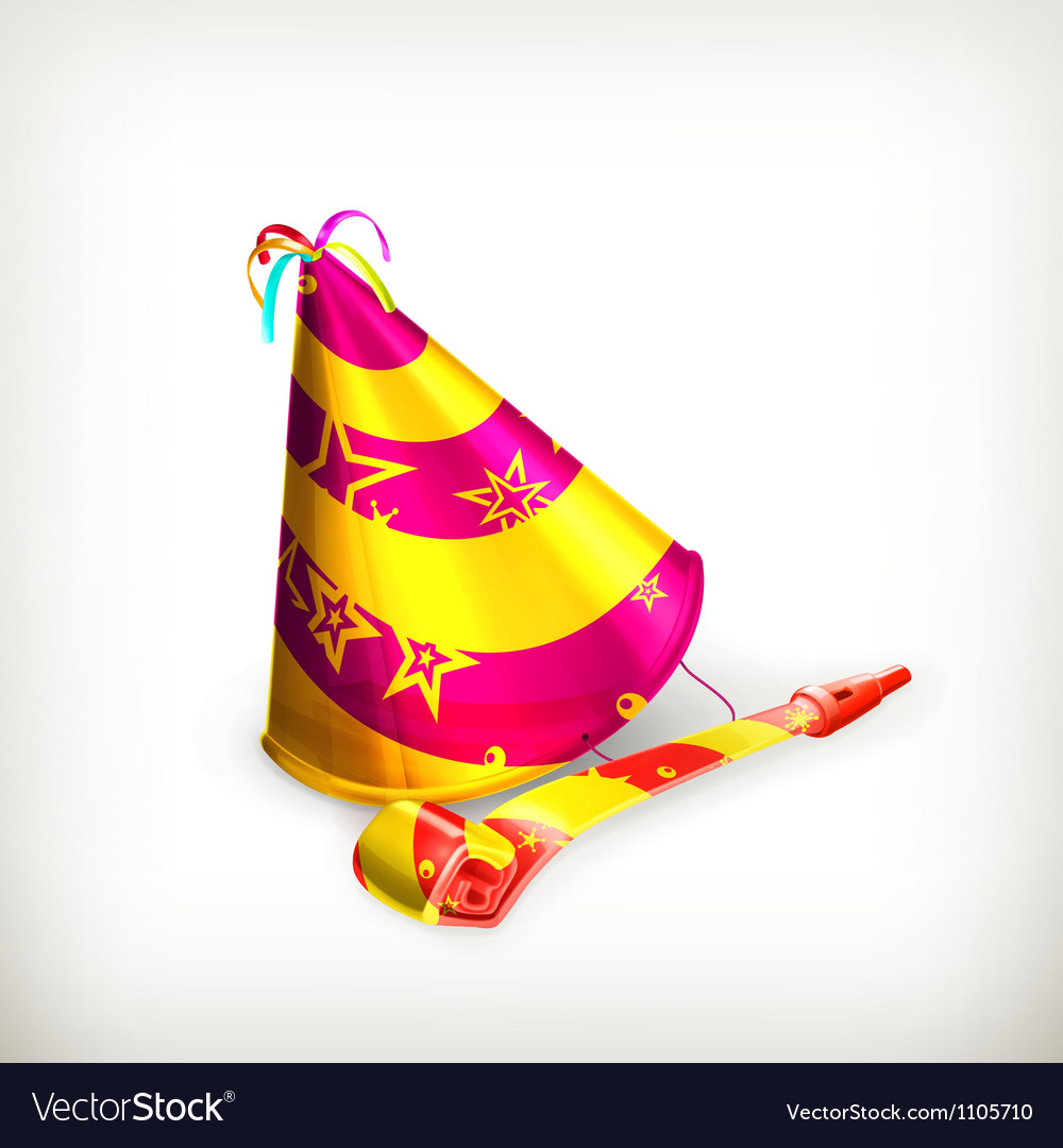 Party hat vector | Price: 3 Credit (USD $3)