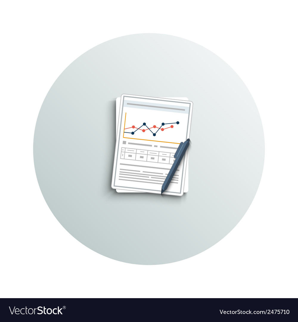 Pen and chart vector | Price: 1 Credit (USD $1)