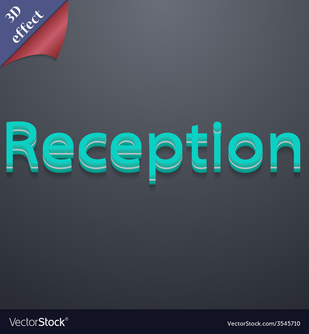 Reception icon symbol 3d style trendy modern vector | Price: 1 Credit (USD $1)
