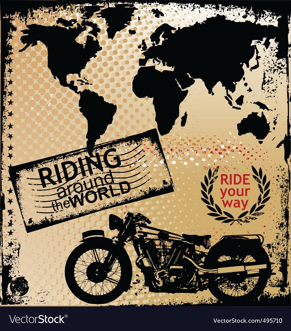 Riding around the world vector | Price: 1 Credit (USD $1)
