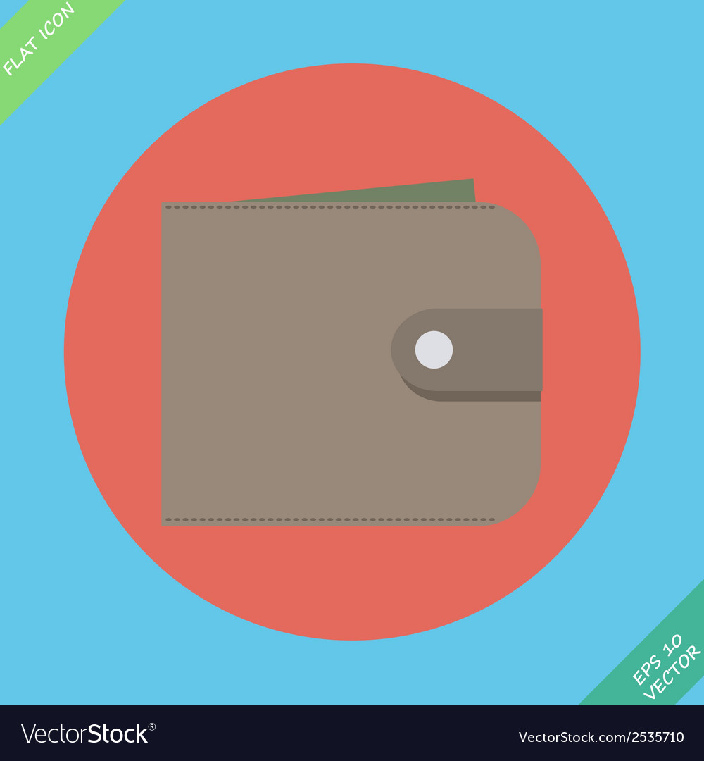 Wallet with money - vector | Price: 1 Credit (USD $1)