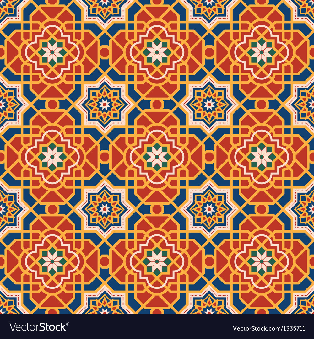 Arabesque seamless pattern vector | Price: 1 Credit (USD $1)
