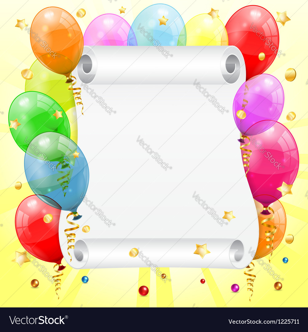Birthday frame vector