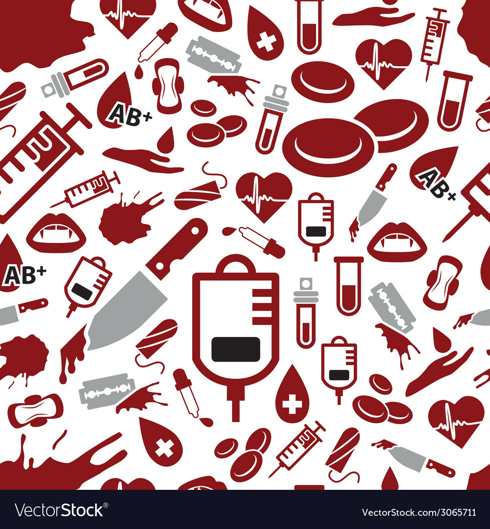 Blood seamless pattern vector | Price: 1 Credit (USD $1)