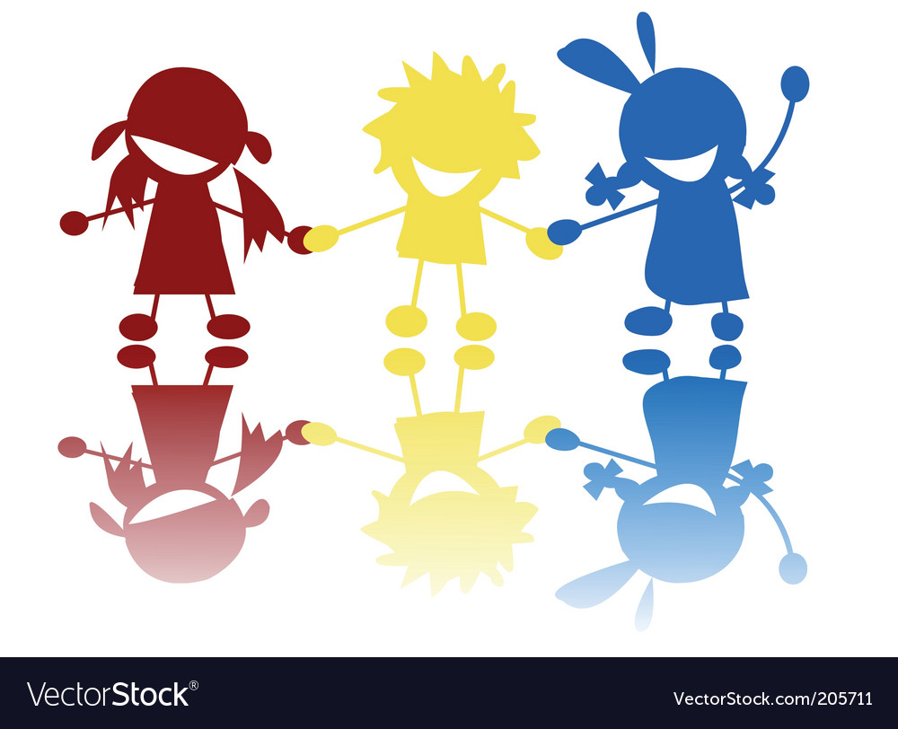 Colored children vector | Price: 1 Credit (USD $1)