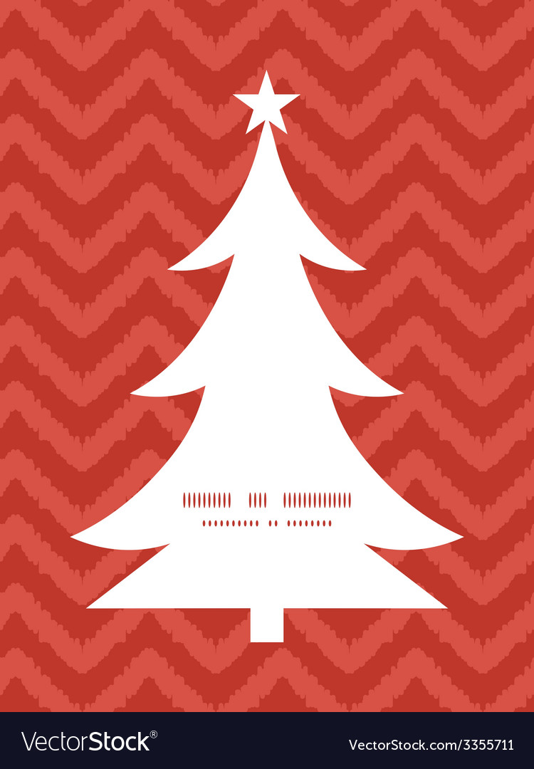 Colorful ikat chevron christmas tree silhouette vector | Price: 1 Credit (USD $1)
