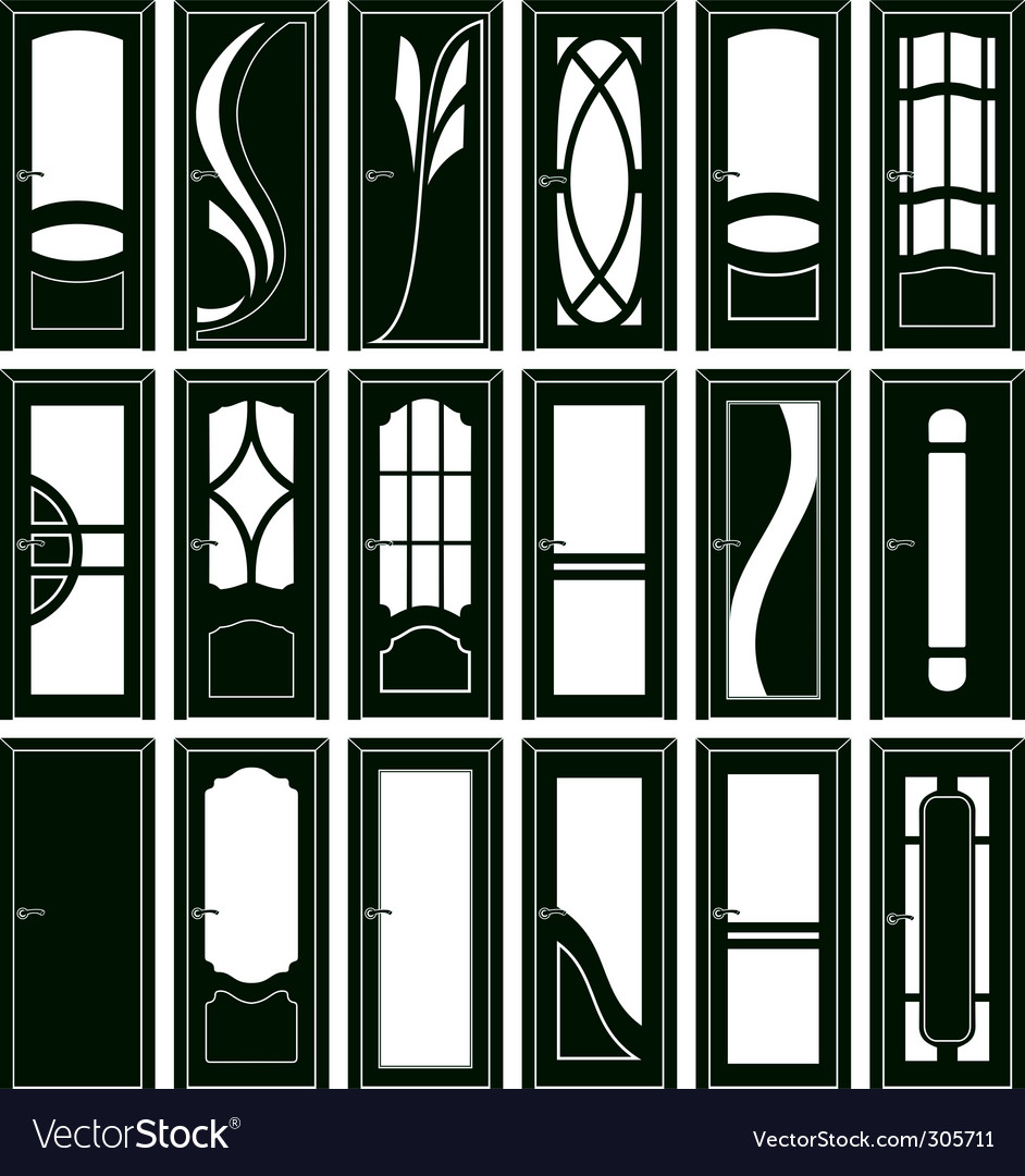 Door forms vector | Price: 1 Credit (USD $1)