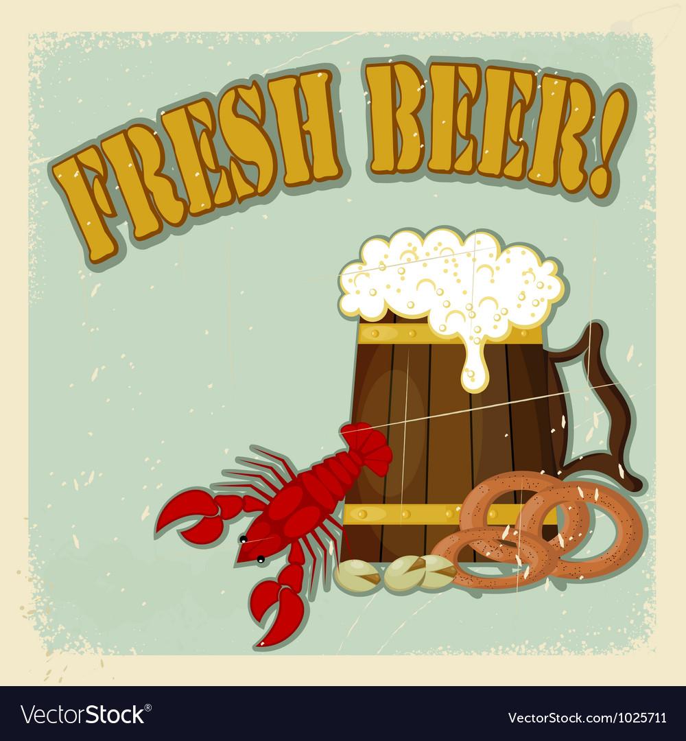 Fresh beer menu vector | Price: 1 Credit (USD $1)
