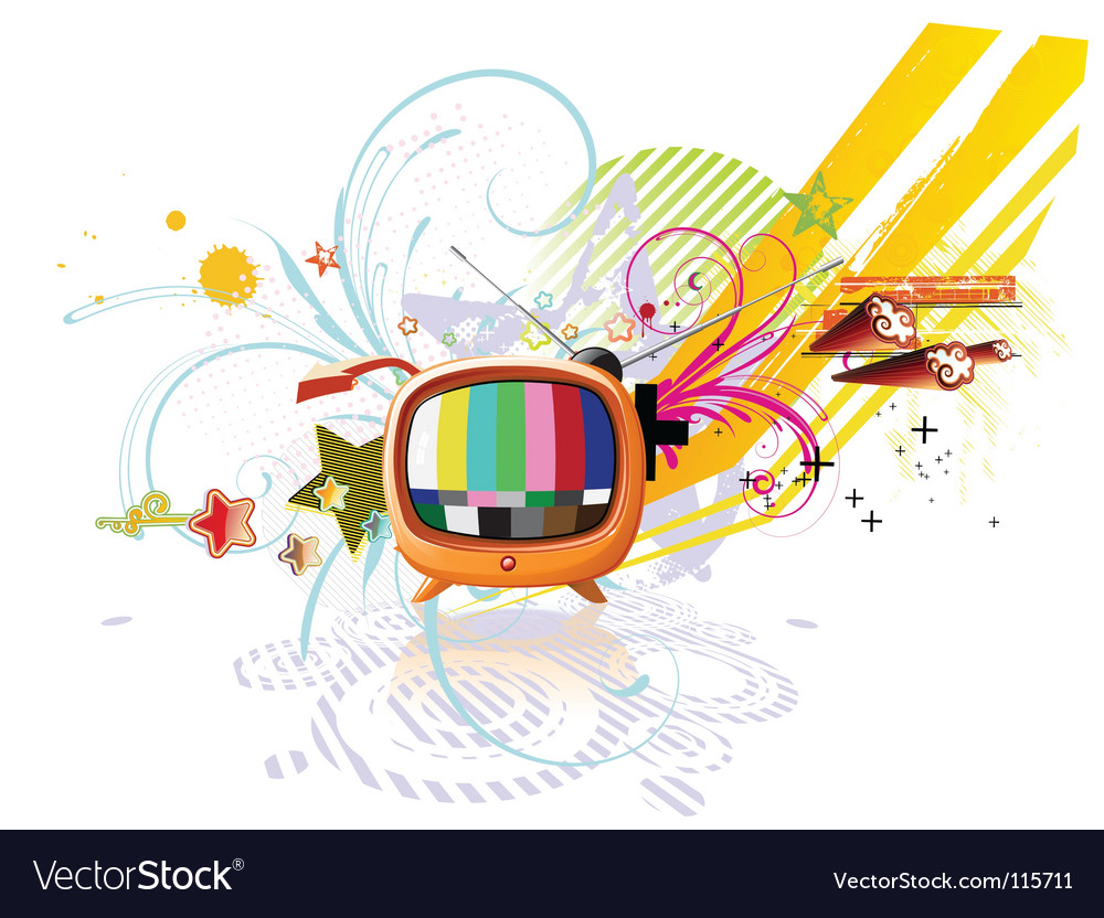 Funky abstract background vector | Price: 1 Credit (USD $1)