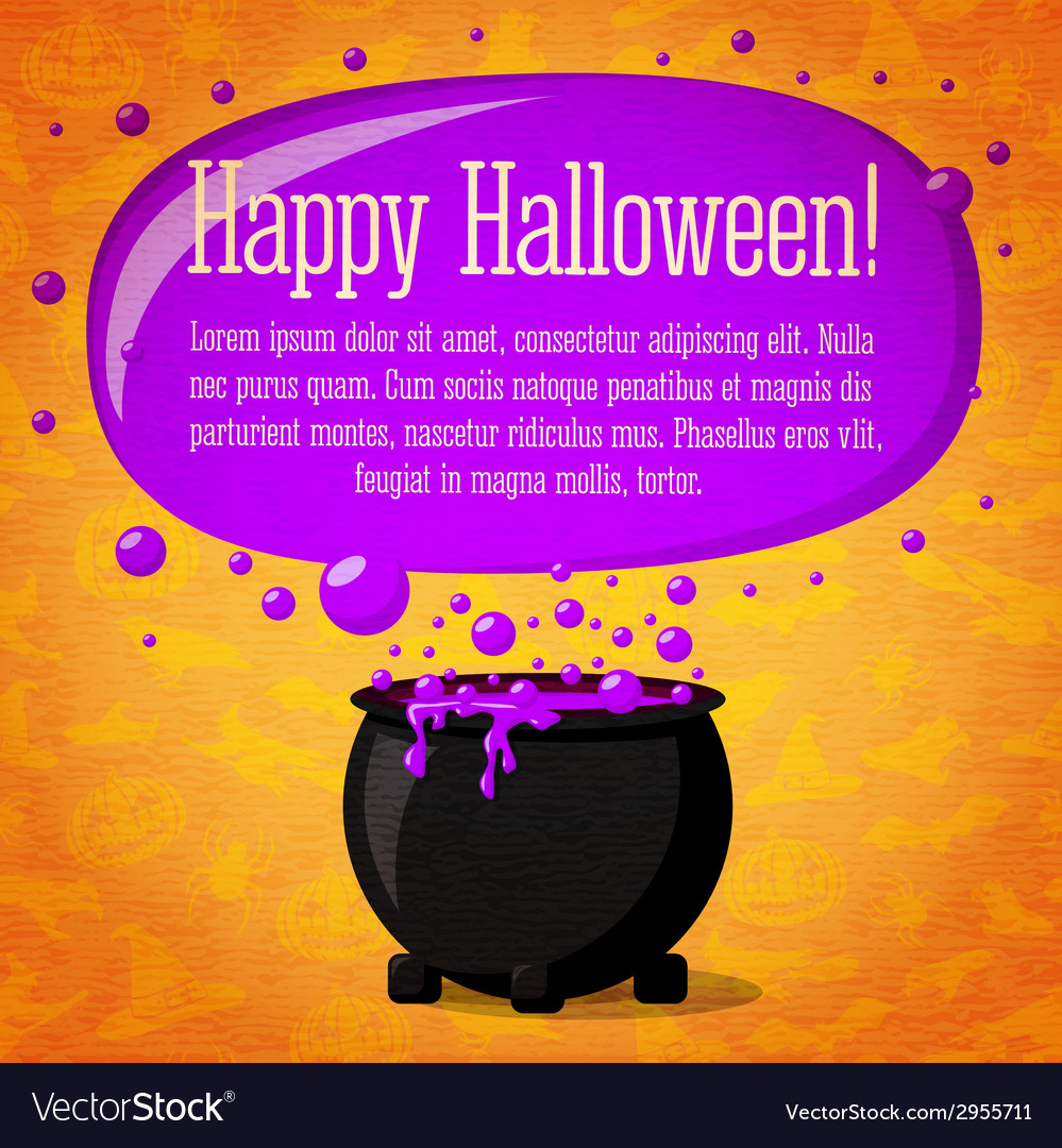 Happy halloween cute retro banner on craft paper vector