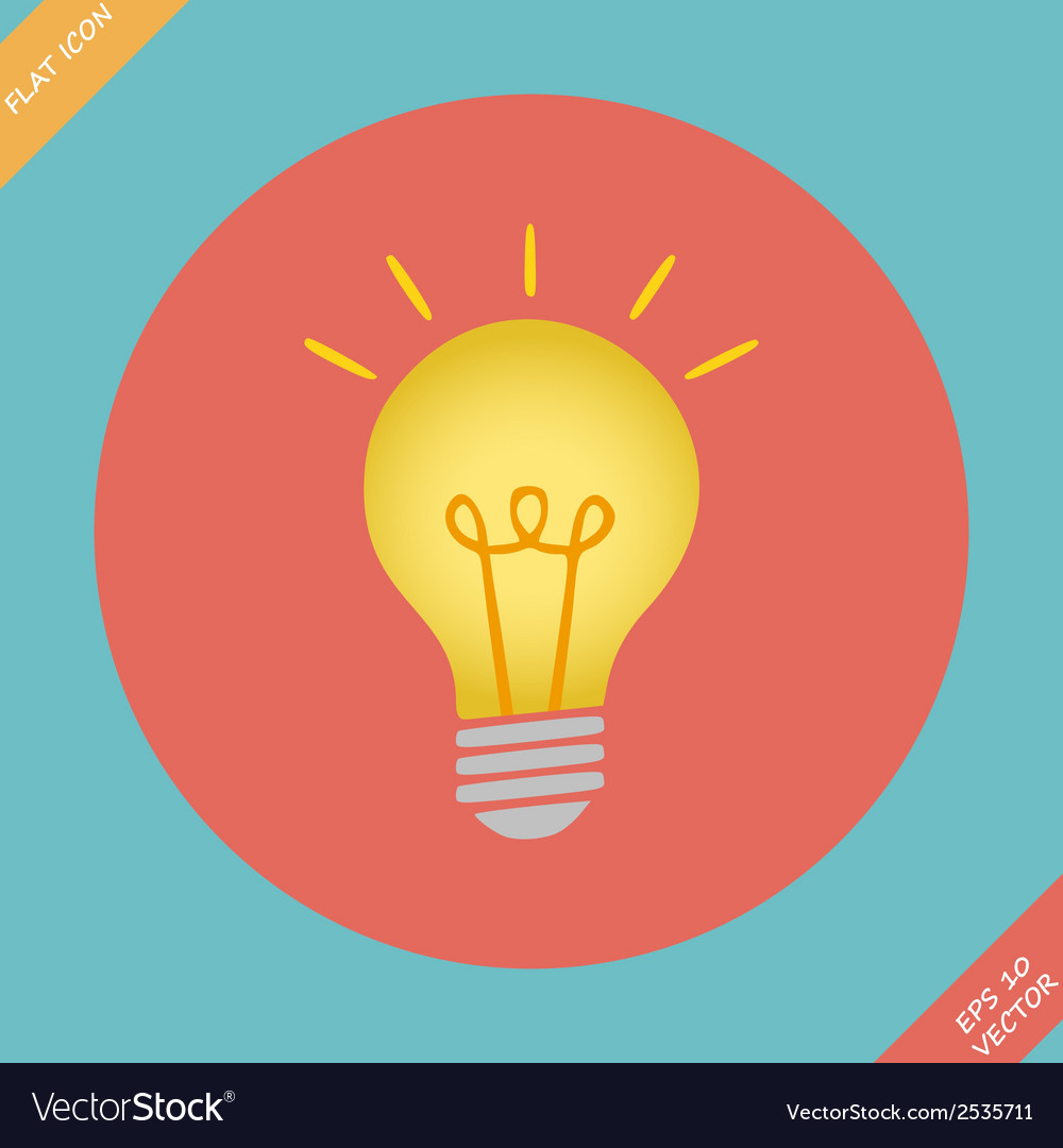 Lightbulb icon - vector | Price: 1 Credit (USD $1)