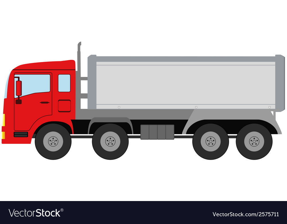Modern isolated truck vector | Price: 1 Credit (USD $1)
