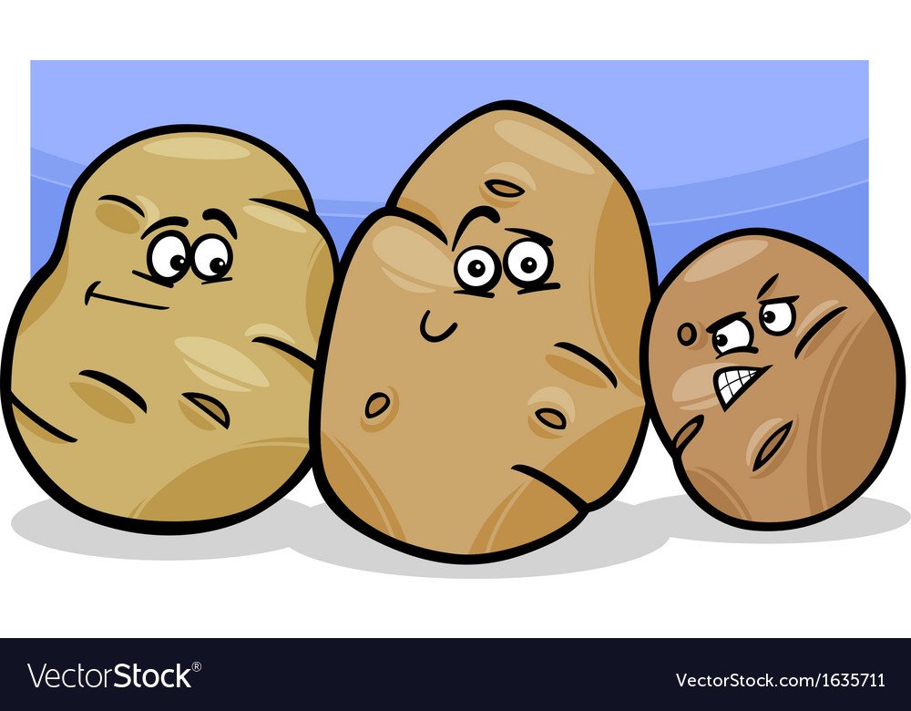 Potatoes vegetable cartoon vector | Price: 1 Credit (USD $1)