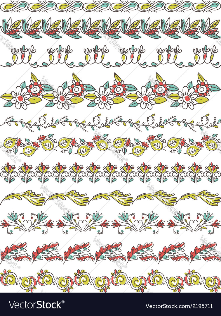 Set of lace paper with flower and leafs vector | Price: 1 Credit (USD $1)
