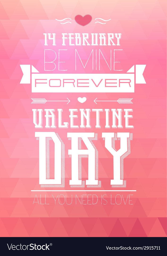 Valentine triangle background disco poster vector | Price: 1 Credit (USD $1)