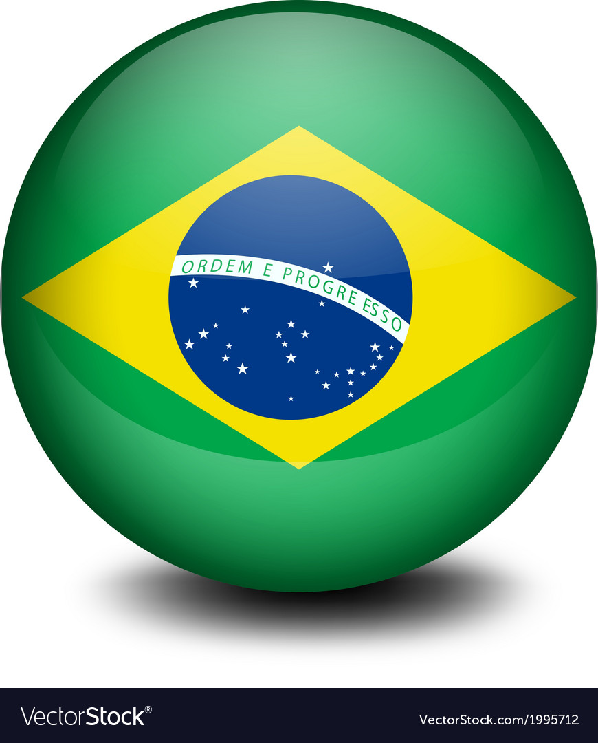 A ball with the flag of brazil vector | Price: 1 Credit (USD $1)