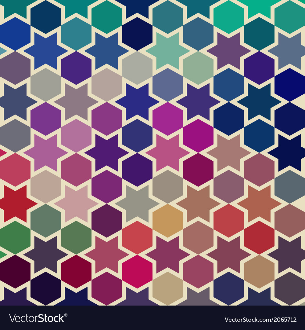 Background of repeating geometric stars geometric vector | Price: 1 Credit (USD $1)