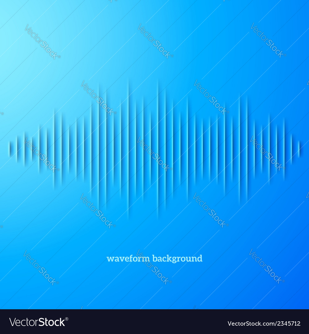 Blue paper sound waveform with shadow vector | Price: 1 Credit (USD $1)
