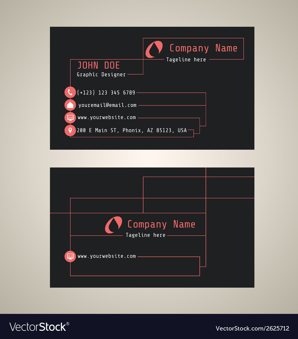 Corporate business card vector | Price: 1 Credit (USD $1)