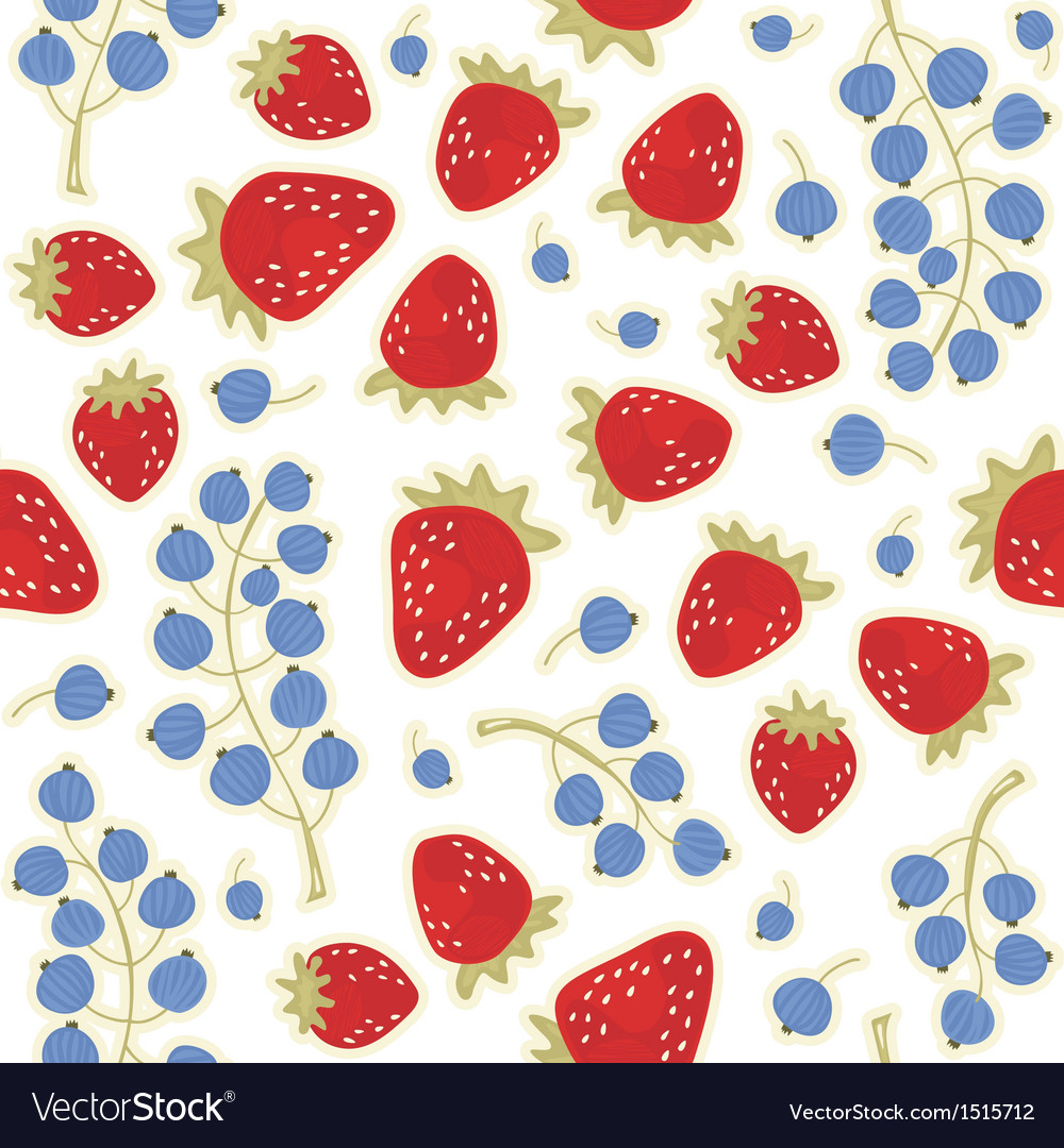 Fruit berry pattern vector | Price: 1 Credit (USD $1)