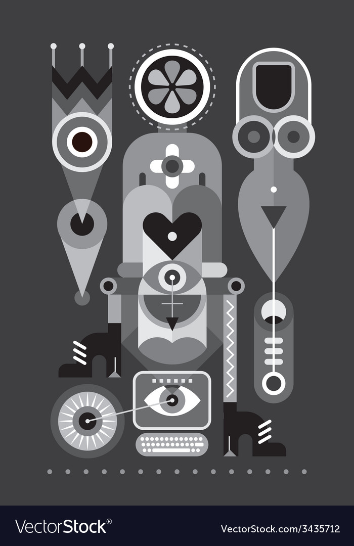 Greyscale abstraction vector | Price: 1 Credit (USD $1)