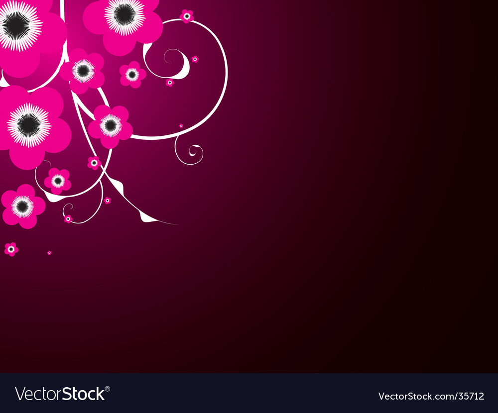 Magenta bloom vector | Price: 1 Credit (USD $1)
