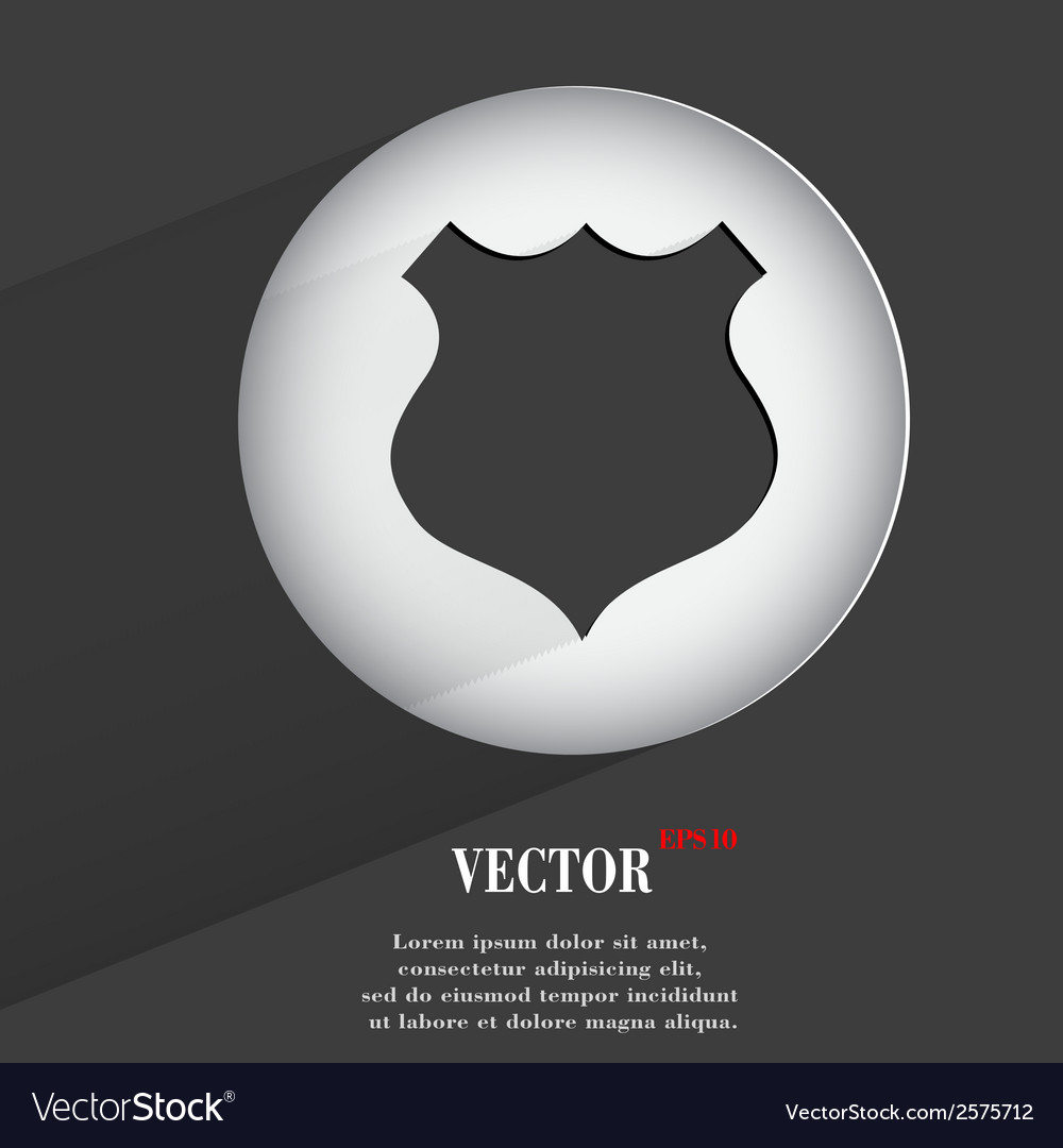 Shield flat modern web button with long shadow and vector | Price: 1 Credit (USD $1)