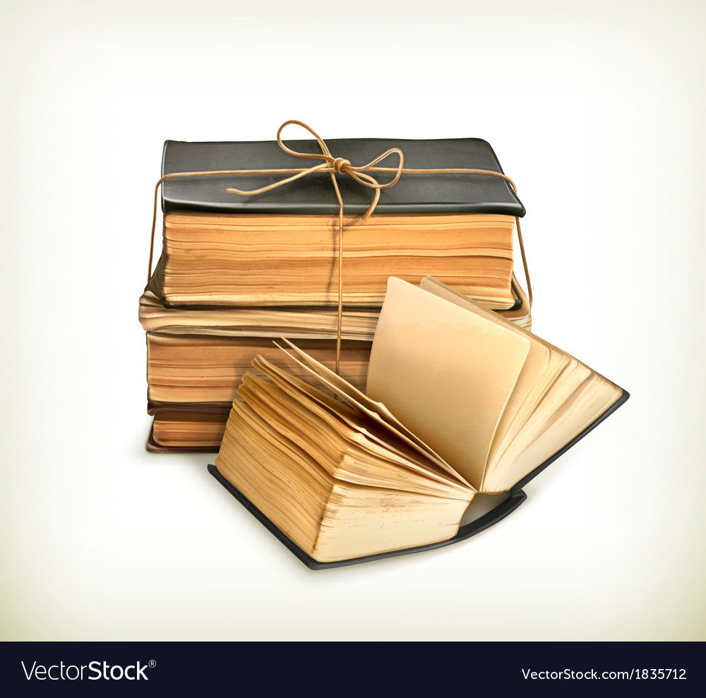 Stack of old books vector | Price: 3 Credit (USD $3)