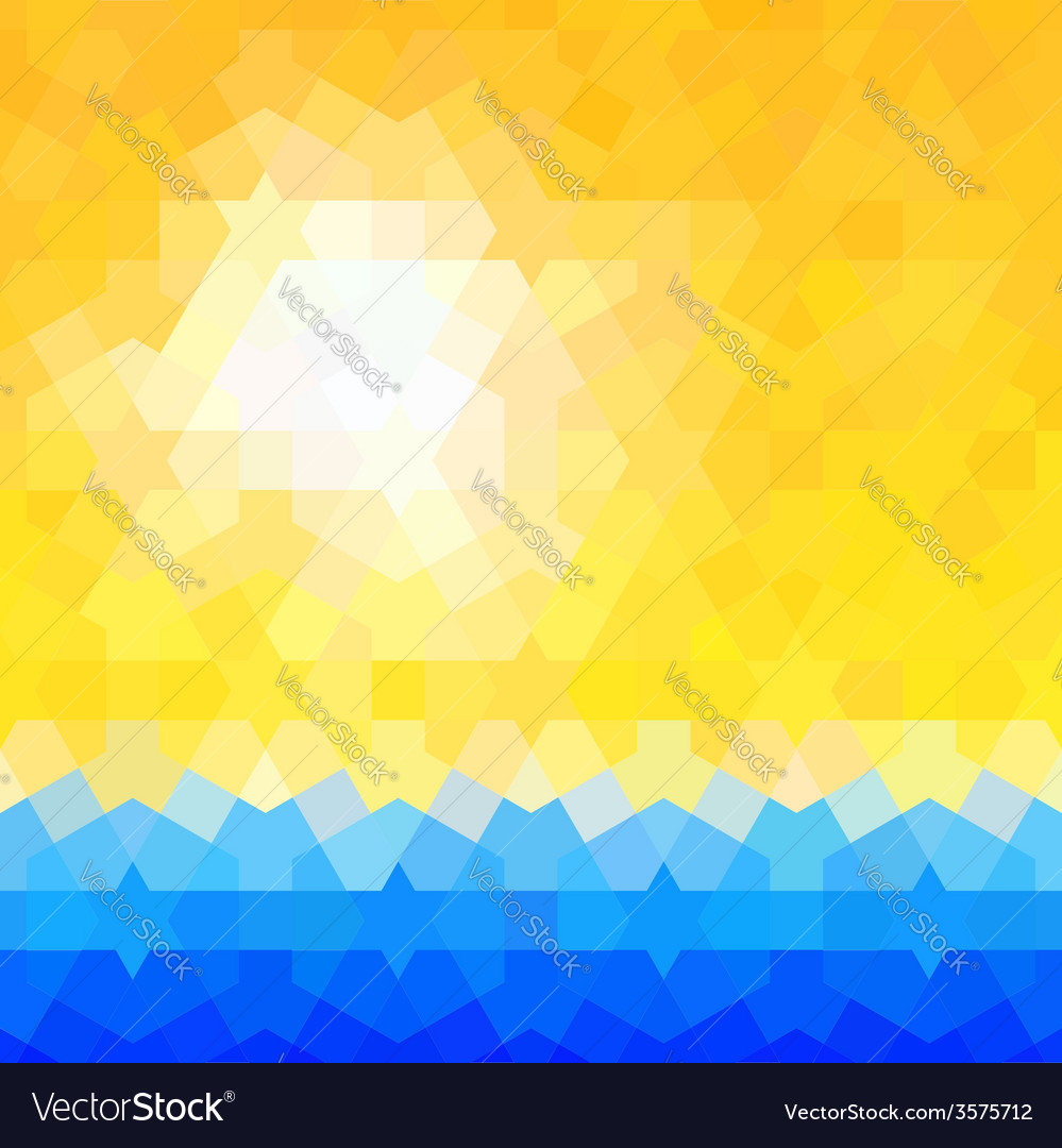 Summer themed background with classic arabic vector | Price: 1 Credit (USD $1)
