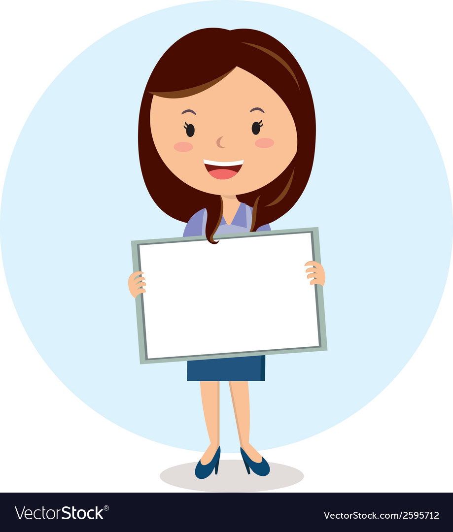 Teacher with whiteboard vector | Price: 1 Credit (USD $1)