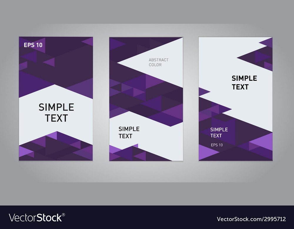 Three abstract business banner backgrounds vector | Price: 1 Credit (USD $1)