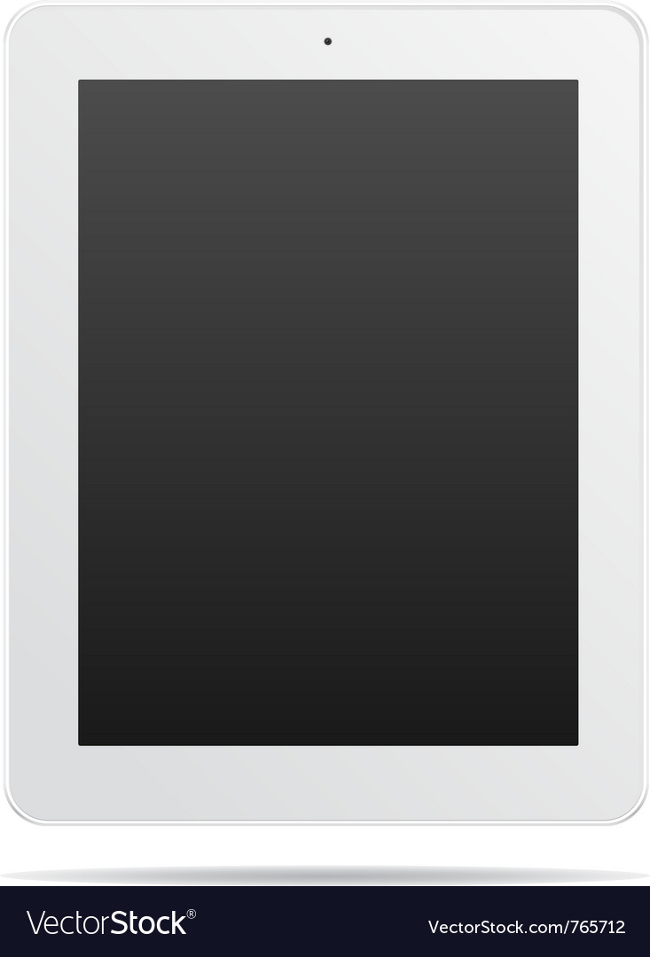 White abstract tablet pc vector | Price: 3 Credit (USD $3)