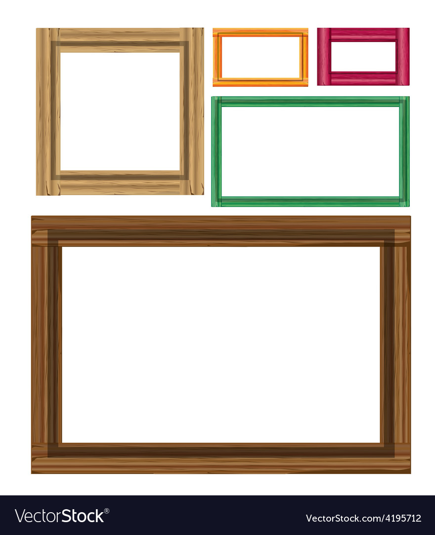 Wooden colored vintage frames vector | Price: 1 Credit (USD $1)