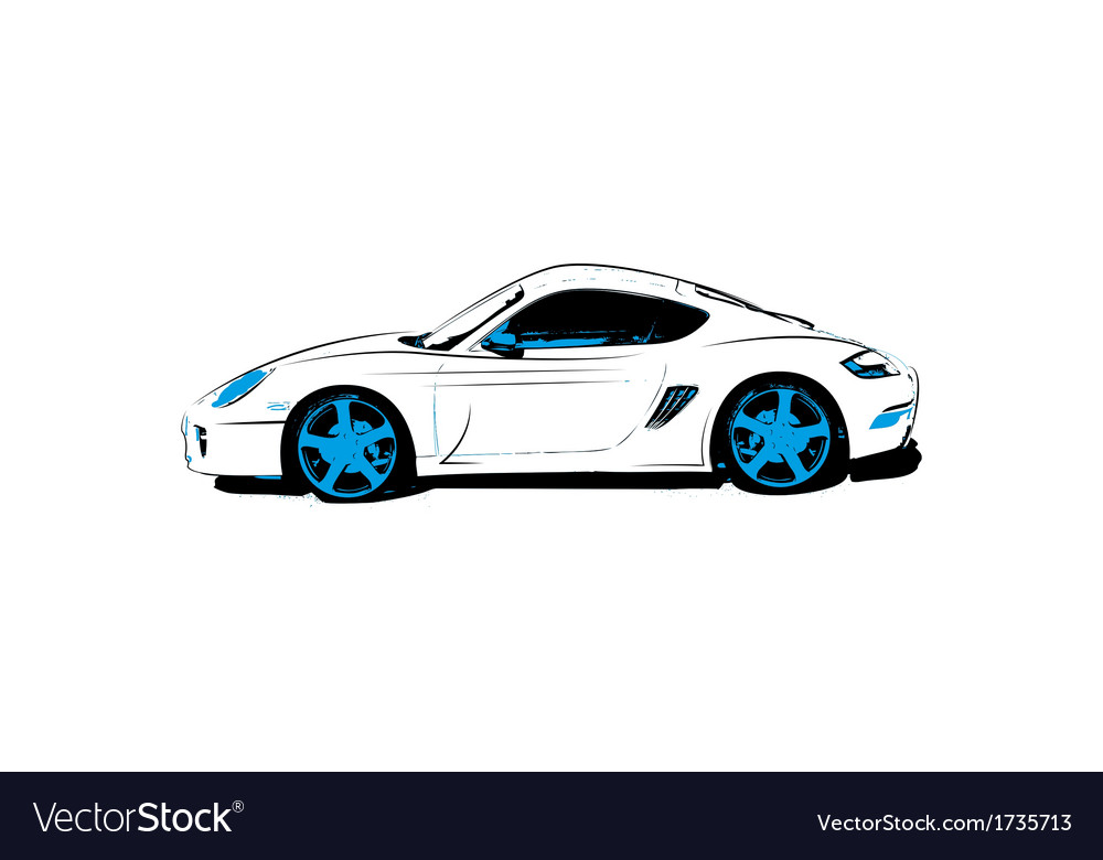 Abstract race car vector | Price: 1 Credit (USD $1)