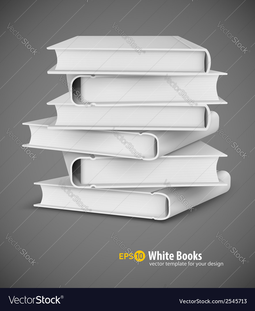 Big pile of white books vector | Price: 1 Credit (USD $1)