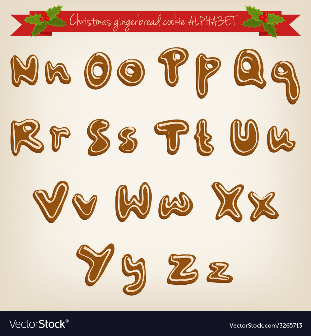 Cute hand drawn christmas gingerbread cookie vector | Price: 1 Credit (USD $1)