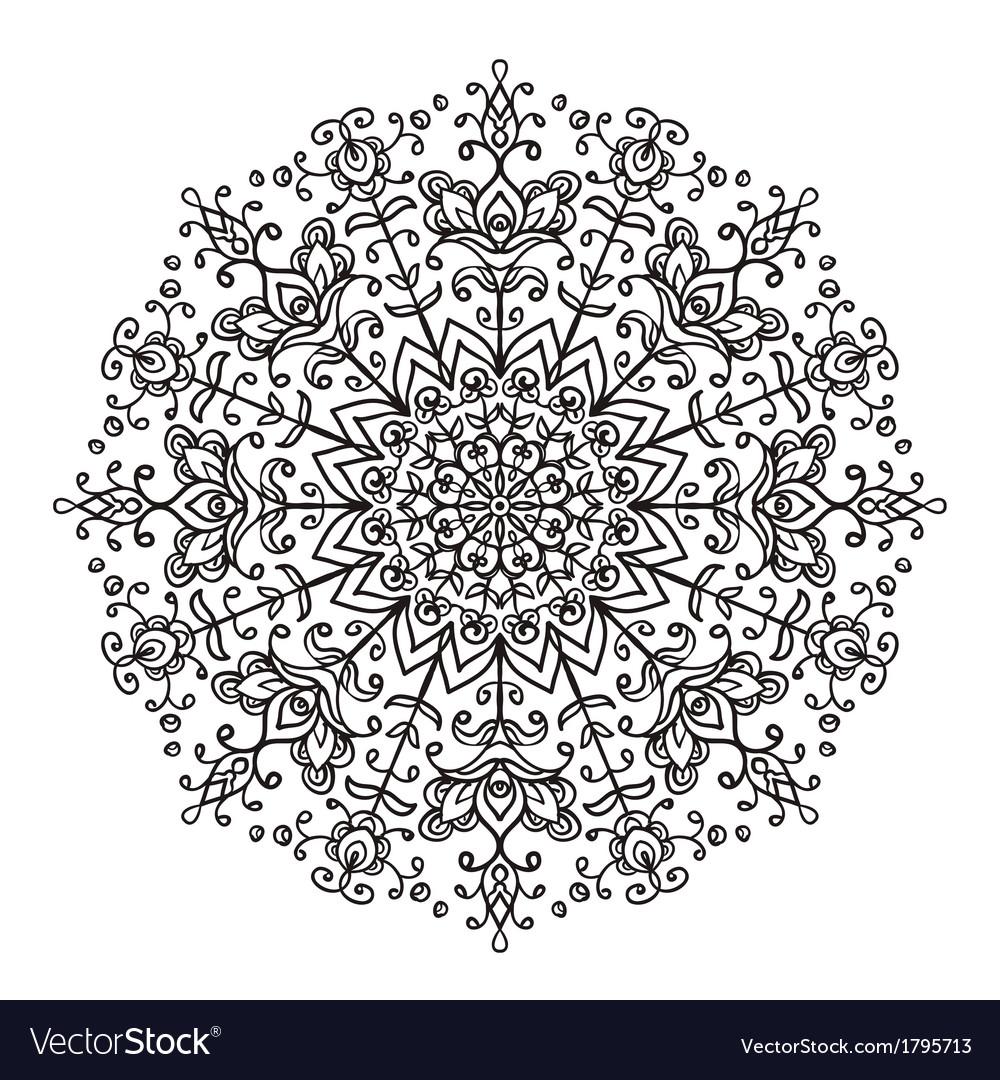 Decorative lace ethnic element vector | Price: 1 Credit (USD $1)
