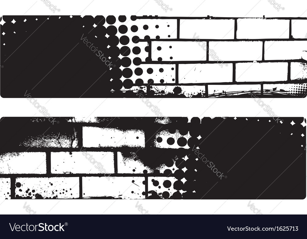 Grunge brickwall banners vector | Price: 1 Credit (USD $1)