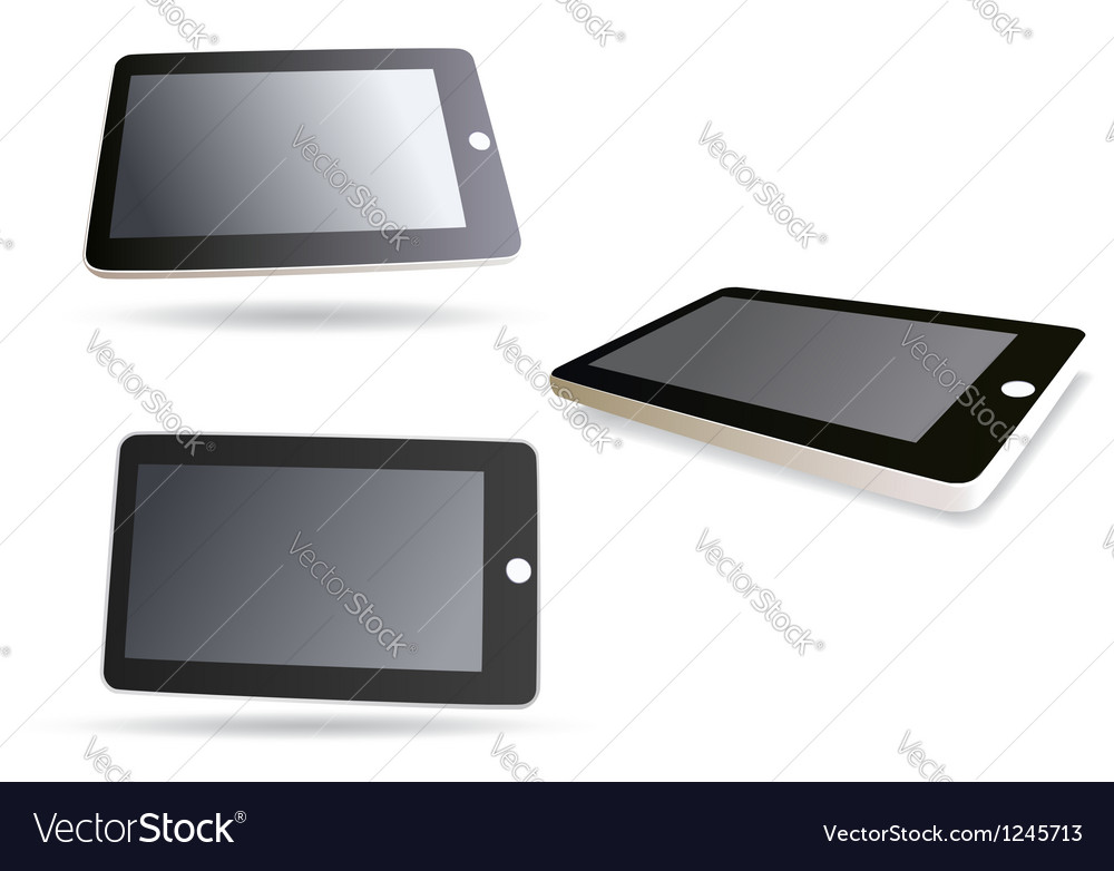 Isolated tablet computer - set vector | Price: 1 Credit (USD $1)