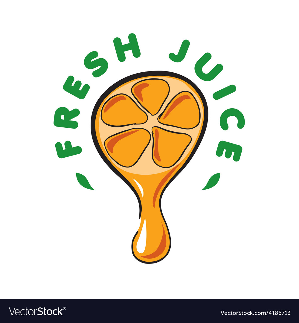 Logo drop of juice from the orange vector | Price: 1 Credit (USD $1)