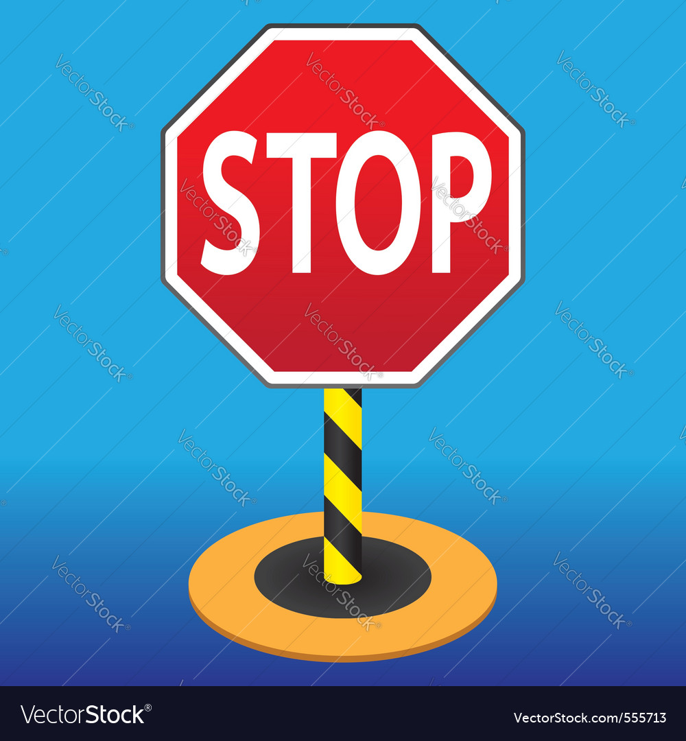 Road sign stop vector | Price: 1 Credit (USD $1)