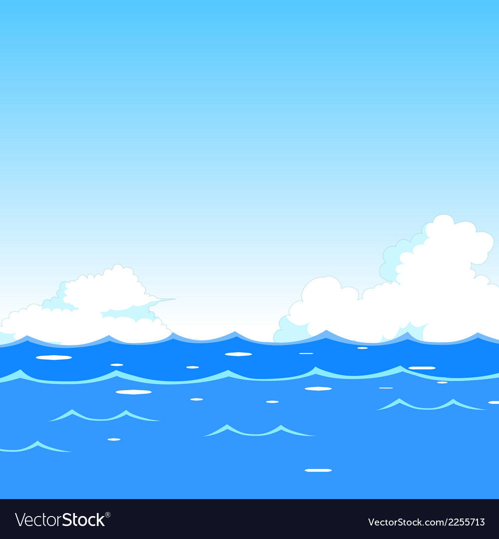Sea waves background vector | Price: 1 Credit (USD $1)