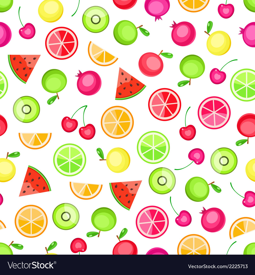 Seamless pattern with fruits vector | Price: 1 Credit (USD $1)